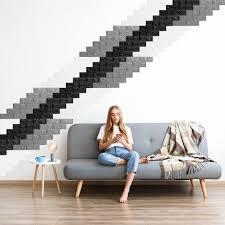 wandpaneele selbstklebend 5er set dekorative steinoptik 3d paneele weicher pe schaumstoff 78x70cm weiß