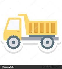 Dump Truck Isolated Vector Icon Construction — Stock Vector © Azhar ...