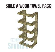 ana white diy towel storage featuring designs by studio c