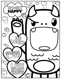 Sheets Kawaii Coloring Pages 42 In For Kids With