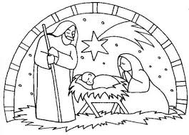 Chic Jesus Is Born Coloring Pages Nativity The Birth Of Scene Page