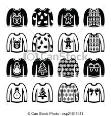 Ugly Christmas Sweater Jumper Vector