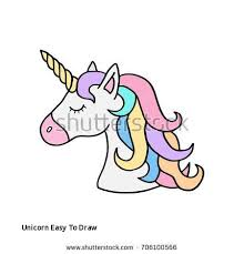 Colorful Rainbow Unicorn Vector Illustration Drawing Cute S