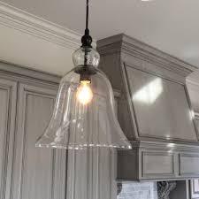 lighting glass industrial pendant lighting for kitchen for