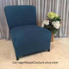 Armless Chair Slipcover Sewing Pattern by Slipcover Teal Suede Chair Cover For Armless Chair Slipper