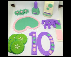 Spa Cake Toppers Themed Topper Birthday