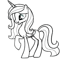 My Little Pony Coloring Pages Princess Cadence And Shining Armor Of Friendship Is Magic P Images