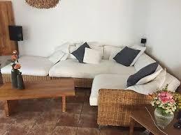 wohnzimmer sofa rattan gebraucht eur 1 00 picclick de
