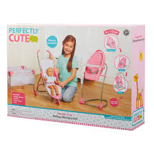 Perfectly Cute Baby Doll Deluxe Nursery Set - 2 Years And Up Childrens Kids Girls Pink 3in1 Baby Doll Pretend Role Play Cradle Cot Bed Crib High Chair Push Pram Set Fityle Foldable Toddler Carrier Playset For Reborn Mellchan Dolls Accsories Olivia39s Little World Fniture Lifetime Toy Bundle Pepperonz Of 8 New Born Assorted 5 Mini Stroller Car Seat Bath Potty Swing Others Cute Badger Basket For Room Ideas American Girl Bitty Favorites Chaingtable Washer Dryerchaing Video Price In Kmart Plastic My Very Own Nursery Olivias And Sets Ana White The Aldi Wooden Toys Are Back Today The Range Is Better Than Ever Baby Crib Sink High Chair Playset