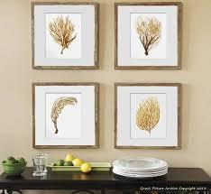 Coral Colored Decorative Items by Sea Fan Art Print Sea Coral Prints Set Of 4 Beach Wall Decor