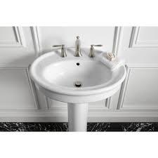 kohler willamette pedestal combo bathroom sink in white k r6385 8