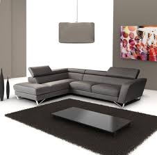 Grey Leather Sectional Living Room Ideas by Living Room Dark Grey Italian Leather Sectional Sofa With Grey