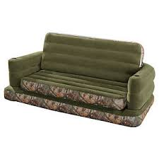Intex Inflatable RealTree Camo Print Queen Size Pull Out Sofa Bed