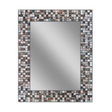 deco mirror 30 in l x 24 in w reeded sea glass wall mirror 1205