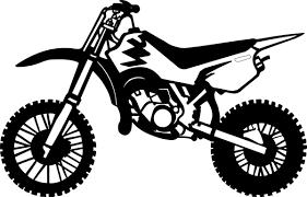 Bikes At Getdrawings Com Drawing Motorcycle Dirt Bike Banner