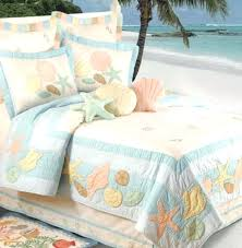Our Enchanting Pastel Shells Quilt Pillow Shams And Bedding