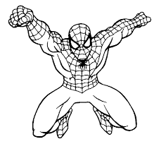 Detail Spiderman In Flying Coloring Pages