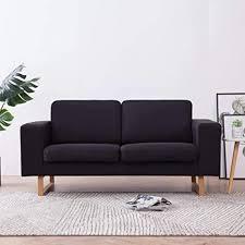 de tidyard sofa 2 sitzer mit rückenkissen sitzkissen