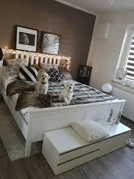 schlafzimmer braune wand deko schlafzimmer inspirationen