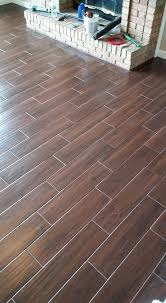 porcelain wood look plank tile from serso in black walnut with