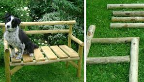 Chainsaw Fence Poles Six Inch Nails Garden BenchHow Cool And Super Adorable Is This Small But Rustic Modern Bench Right