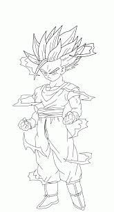 Gohan Coloring Pages Dragon Ball Z Home Download