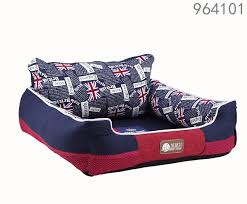 tearproof material washable pets beds sofa with uk flag printing