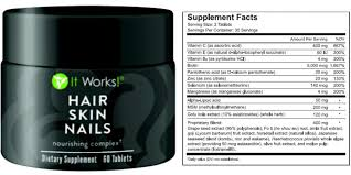 ItWorks Hair Skin Nails Supplement Review