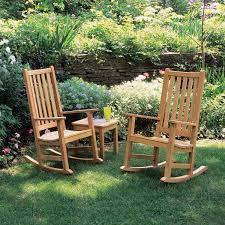 Franklin 3 Piece Natural Shorea Patio Rocking Chair Set By Oxford Garden