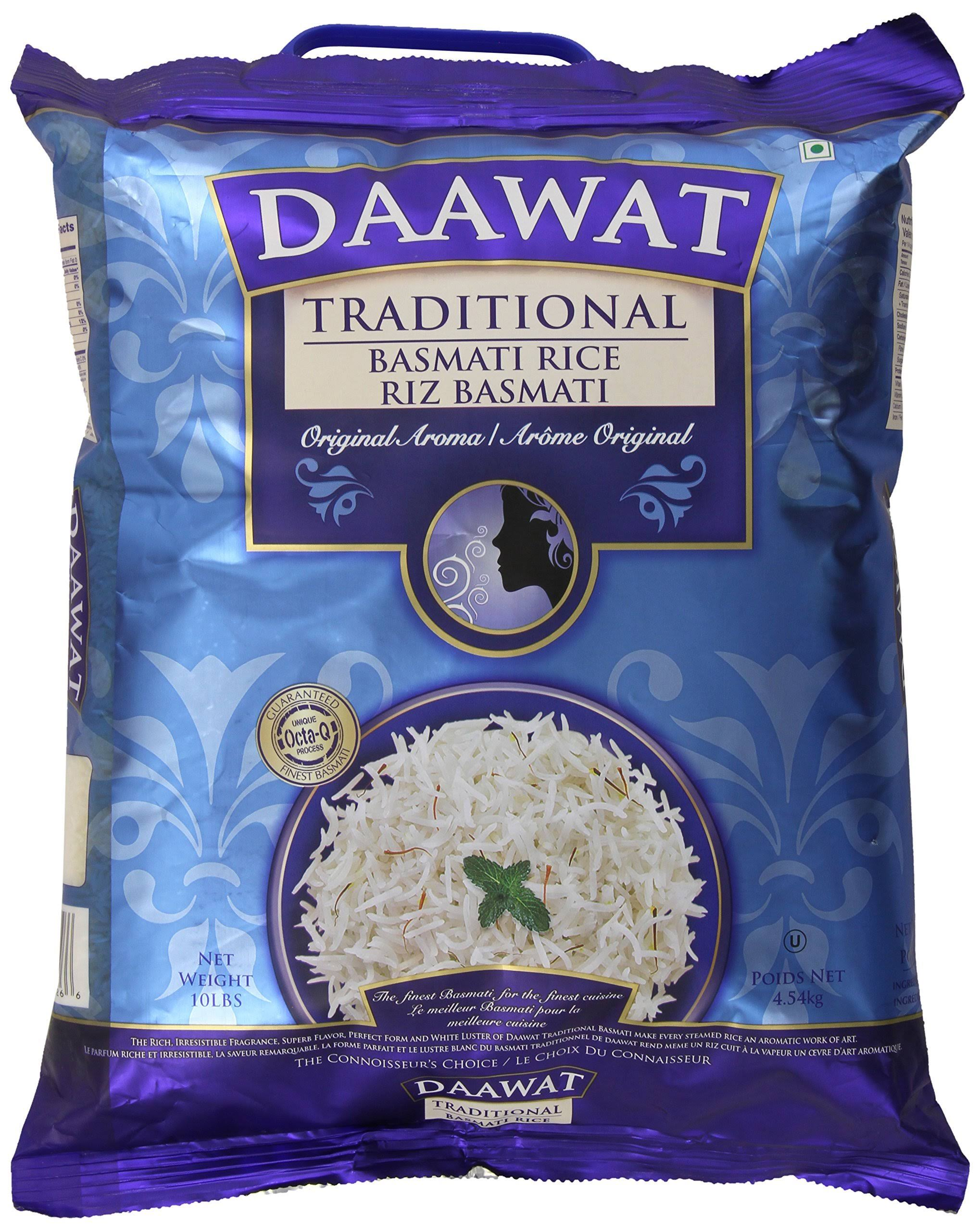 Daawat Traditional Basmati Rice - 10lbs