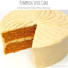 Cake Mix And Pumpkin by Pumpkin Spice Cake Doctored Cake Mix My Cake