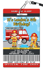 Fire Truck Birthday Party Invitations Tonka Envelopes Online First ...