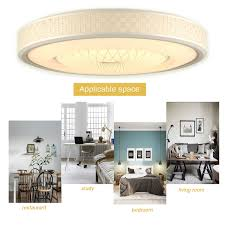 ROYAL PEARL Modern LED Pendant Light Chic Circular Chandelier Creative Hanging Lighting Fixture For Living Dining Room Bedroom Silver Warm White 3000K