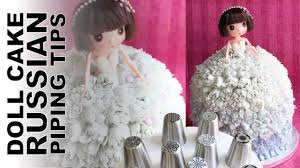 Cakes Decorated With Russian Tips by 3d Doll Cake Decorated With Russian Flower Tips Wedding Dress