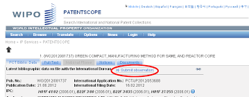 wipo international bureau wipo third submissions in the patentscope search system spicyip