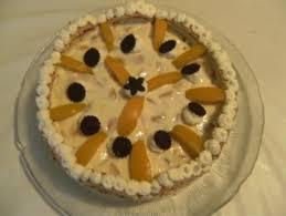 torte pfirsich quark biskuitrollen torte