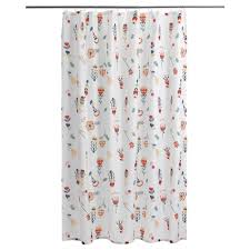 Amazon Curtain Rod Extender by Window Treatments Bright Floral Fabric Shower Curtains Floral