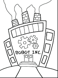 Robot Coloring Pages Online Printable Page To Print For Preschoolers