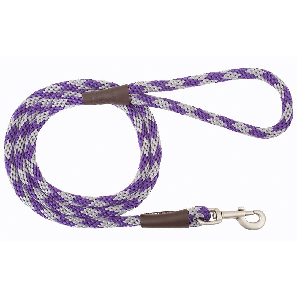 "Mendota Amethyst Snap Leash - 3/8"" x 6'"