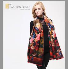 vianosi 2016 luxury winter scarf woman digital printed female