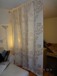 Dignitet Curtain Wire Pictures by Ikea Panel Curtains Hung On A Wire Curtain Rod Divider Between