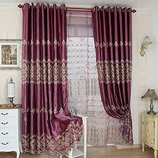 fadfay european luxury embroidered sheer curtains custom made