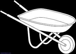 Wheelbarrow Outline Clipart