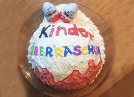 kinder überraschungsei torte