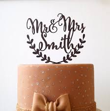 Rustic Wedding Cake Toppers Inspirational Personalized Topper Mr And Mrs Custom