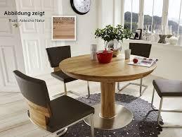 säulentisch rund 110 165x76x110cm orel asteiche massiv casade mobila