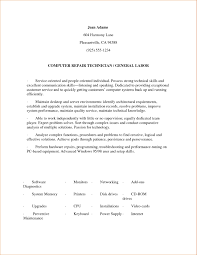 General Resume Objective Example Free Templates Labor Template