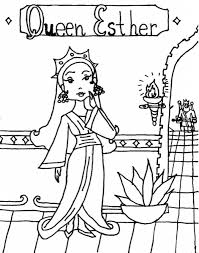 Queen Esther Coloring Page Book