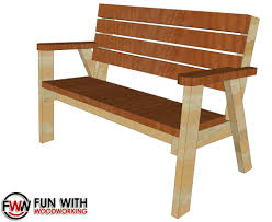 fun with woodworking full plans for the park bench with a