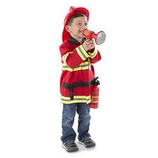 Amazon.com: Melissa & Doug Fire Chief Role Play Costume Set, Pretend ...
